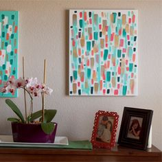 The perfect addition to any wall. This DIY brushstroke canvas can be personalized to fit any theme.