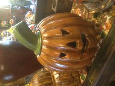 Pumpkin at the Pottery Shop in Clinton, Arkansas