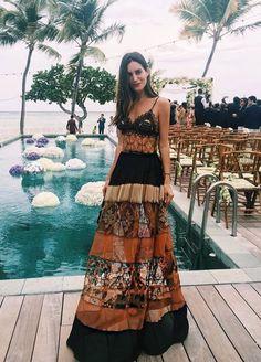 Gala Gonzales in Alberta Ferretti attends Helena Bordon's pre-wedding party in Nikki Beach St. Barth - May 2016