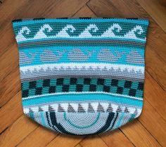 Endbild Muster 4 von der cal Tasche Sand und Meer von schoenstricken.de