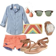Cutest summer outfit from Hipiti. Love the colored chevron clutch. // Love this site! You pick your favorite stores and it creates a shopping dashboard of all the sales going on at your favorite places to shop! #accessories #fashion