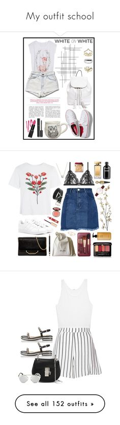 """""""My outfit school"""" by sanrosan ❤ liked on Polyvore featuring Ileana Makri, Forever 21, Crate and Barrel, Natural Life, Rebecca Minkoff, Chanel, Topshop, WhiteOnWhite, Alexander McQueen and Dolce&Gabbana"""