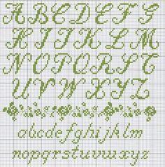 Cross Stitch Cursive Alphabet 1000+ ideas about cross stitch alphabet patterns on pinterest ...