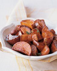 glazed sweet potatoes w/ brown sugar & lime // Martha Stewart