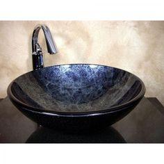 RECEIVED PAULA Glass Sink  YOSEMITE HOME DECOR  QTY:1