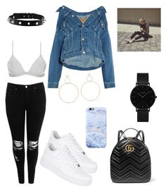 Untitled #15 by cryamilet19 on Polyvore featuring polyvore fashion style Balenciaga Boohoo ONIA NIKE Gucci CLUSE Natasha Schweitzer clothing