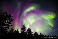 Just aurora ober Inari, Finland Places In Usa, Places Around The World, Northen Lights, Lapland Finland, Space Photography, Amazing Sunsets, Landscape Pictures, Weird And Wonderful, Beautiful Sky