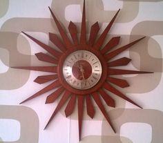 A personal favorite from my Etsy shop https://www.etsy.com/uk/listing/262338427/large-sunburst-clock-vintage-1960s-1970s