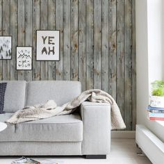 Vintage Wood Wallpaper - Peel and Stick - Simple Shapes Wood Plank Wallpaper, Look Wallpaper, Wood Plank Walls, Wood Planks, Fabric Wallpaper, Peel And Stick Wallpaper, Wood Paneling, Basement Guest Rooms, Cleaning Walls