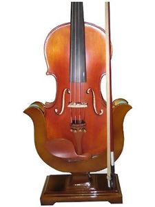 Violin and Bow Wooden Holder Stand, Great Design, Safe and Stronghold