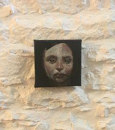 Piccolo viso - Alessandra Spigai - 15x15 oil painting