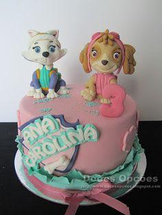 Doces Opções: Bolo Patrulha Pata para o 3º aniversário da Ana Ca... Spaniels, Paw Patrol, Birthday Cake, Desserts, Wafer Cookies, Decorating Cakes, Fiestas, Cake Birthday, Pastries
