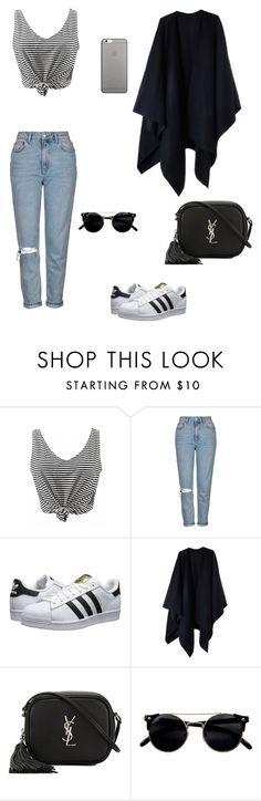 """Untitled #35"" by bleona-ermonda on Polyvore featuring Topshop, adidas Originals, Acne Studios, Yves Saint Laurent and Native Union"