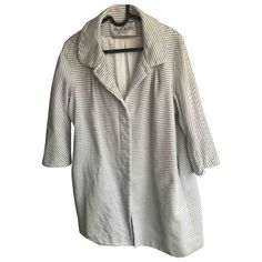 PAUL & JOE \N WHITE COTTON COAT. #pauljoe #cloth Paul And Joe, Parisian Chic, World Of Fashion, White Cotton, Color Pop, Cover Up, Coat, Clothes, Shopping