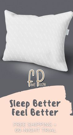 A pillow that keeps your neck parallel to the mattress and adapts to your sleep position. #finepillow #GetYourFinePillow #perfectpillows #hypoallergenicpillows #bestpillowforsidesleepers #myfavoritepillow Pillow Fight, Pillow Talk, Pillow Shams, Bed Pillows, Pillow Cakes, Sleep Better, Animal Pillows, Perfect Pillow, Pillow Design