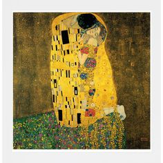 Bring a romantic touch to your scheme with this printed-to-order wall art, inspired by Klimt's iconic painting 'The Kiss'.  Product: ...