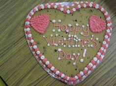 Valentine's chocolate chip cookie cake