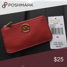 Michael Kors Key Pouch Leather Leather Key Pouch from Michael Kors MICHAEL Michael Kors Accessories