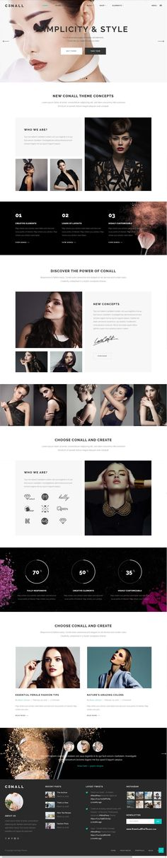 Conall - A Clean & Beautiful Multipurpose Theme Demo #fashion #models…