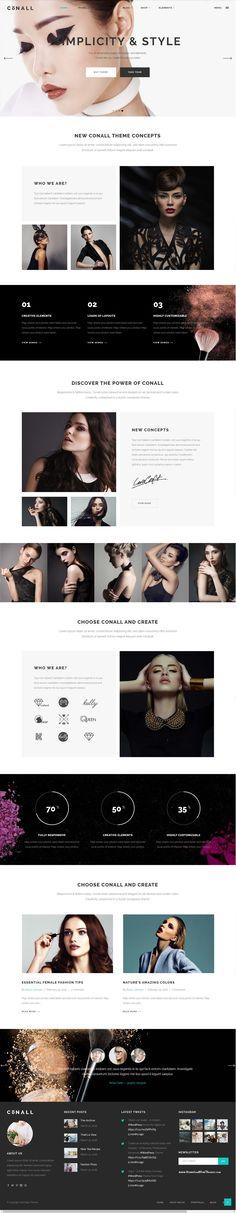 Conall - A Clean & Beautiful Multipurpose Theme Demo #fashion #models…