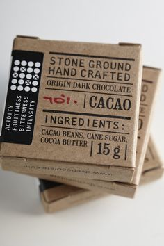 FIRST BATCH CHOCOLATE by Jane Says, via Behance