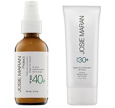 Josie Maran's Daily Sun Protection is both natural and absorbs beautifully