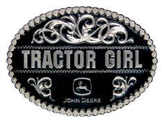(MSA290JDS) John Deere Tractor Girl Belt Buckle