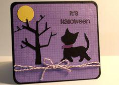 Cat in the Moonlight Halloween Card by LorisCraftySpot on Etsy, $3.50