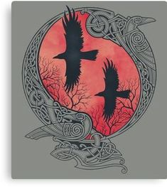 Norse Mythology and Norse Heathen themes are found throughout theses intricate designs by Raidho. Norse Tattoo, Celtic Tattoos, Viking Tattoos, Tattoo Symbols, Viking Designs, Celtic Designs, Celtic Symbols, Celtic Art, Celtic Raven