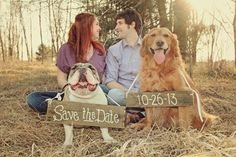 Save the Date or Invitation Signs for Dogs or by ThePeaPickinHeart, $35.00