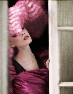 """maliciousglamour: """" A New New Look Financial Times Fine Times, Nov 2009 Photographer: Yuval Hen Dress: Dolce & Gabbana, Fall 2009 Hat: Christian Dior, Fall 2009 Couture """" Pink Love, Pretty In Pink, Hot Pink, Dolce & Gabbana, Christian Dior, Glamour Fashion, Tout Rose, Le Clown, Celebrity Photographers"""