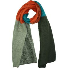 Orange Teal & Black Oversize Fuzzy Blanket Scarf ($13) ❤ liked on Polyvore featuring accessories, scarves, heavy, orange, long shawl, teal shawl, oversized scarves, orange scarves and teal scarves
