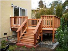 kerti fa lépcső