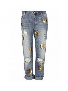 Tip Of The Day: Update Your Denim With A Dose Of Sparkle via @WhoWhatWear