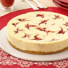 Strawberry Cheesecake Swirl--this is in my oven right now. Fingers crossed for my 1st cheesecake