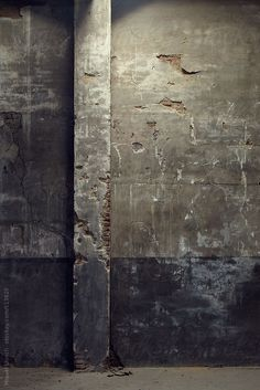 Old plaster wall of an interior building by Miquel Llonch
