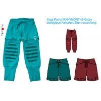 Yoga Pants MANYMONTHS Coton biologique Pantalon/Short court/long
