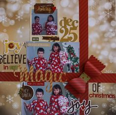 Believe in the Magic of Christmas **NEW SIMPLE STORIES** - Scrapbook.com - Made with Simple Stories Cozy Christmas Collection.