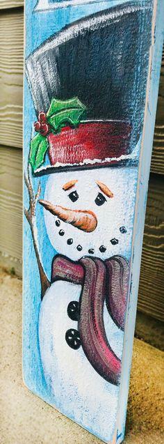 Snowman joy | Christmas crafts, Snowman christmas decorations, Christmas  wood