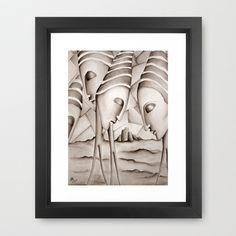 The King is Dead  Framed Art Print by SimonaMereuArt - $45.00