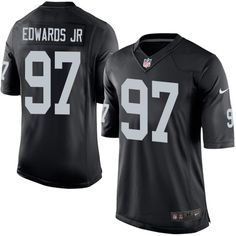 Nike Limited Mario Edwards Jr Black Youth Jersey - Oakland Raiders #97 NFL Home