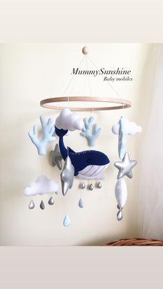 Cot Mobile, Baby Crib Mobile, Baby Cribs, Hanging Crib, Hanging Mobile, Nautical Nursery Decor, Newborn Toys, Flower Nursery, Pregnancy Gifts