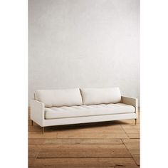 Anthropologie Belgian Linen Angelina Sofa (137.475 RUB) ❤ liked on Polyvore featuring home, furniture, sofas, ivory, beige couch, tufted linen sofa, off white sofa, tufted sofa and anthropologie