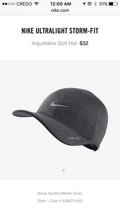 Nike dark grey baseball hat