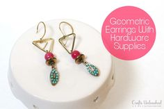 DIY Geometric Handmade Earrings With Hardware Supplies