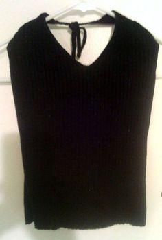 ONLY $5 XS Black Shimery Ribbed V-Neck Tie Halter @eBay
