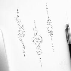 Boho Tattoos, Spine Tattoos, Cute Tiny Tattoos, Small Tattoos, Floral Tattoo Design, Tattoo Designs, Tatuaje Rick And Morty, Skull Tattoo Flowers, Matching Sister Tattoos