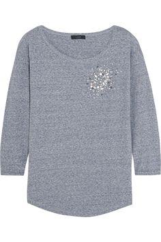 J.CREW Embellished Cotton-Blend Jersey Top. #j.crew #cloth #top