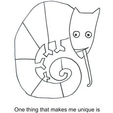 Eric Carle's art is distinctive and instantly recognizable. Why not introduce your kids to Eric Carle with these 10 free printable eric carle coloring pages Chameleon Craft, Mixed Up Chameleon, Chameleon Color, Kindergarten Art, Preschool Art, Reptiles Preschool, Preschool Color Theme, Kindergarten Coloring Pages, Eric Carle
