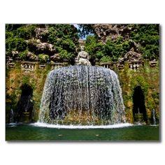Fountain in Villa D'Este Postcards - $0,93
